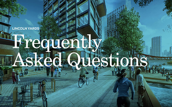 Graphic representing Lincoln Yards FAQ document