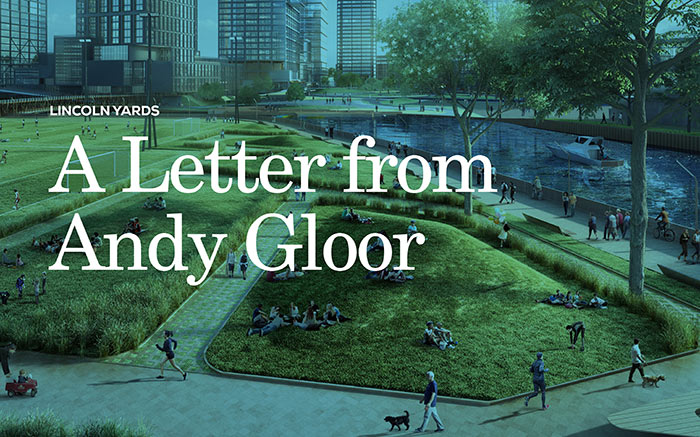 Graphic representing Lincoln Yards A Letter from Andy Gloor document