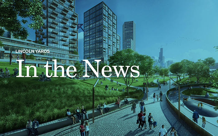 Graphic representing Lincoln Yards In The News document
